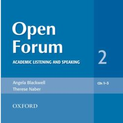 Open Forum : Academic Listening and Speaking
